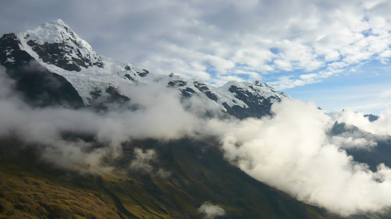 NGO Taxi Traveling in Andean Mountains Peru