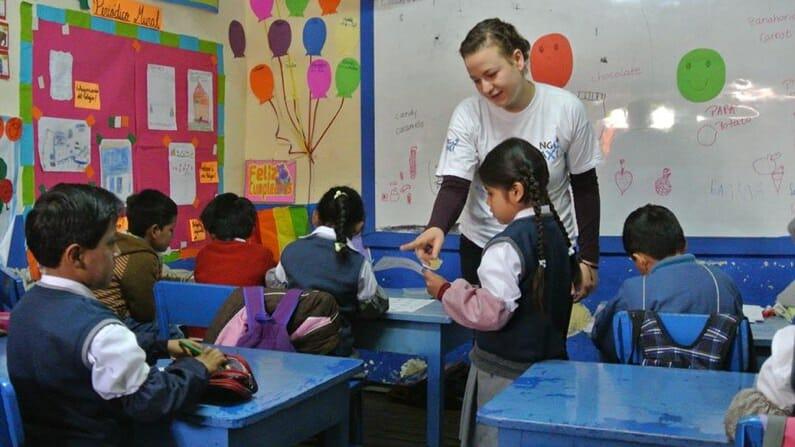 NGO Taxi Laura Teaching English Peru  Cusco